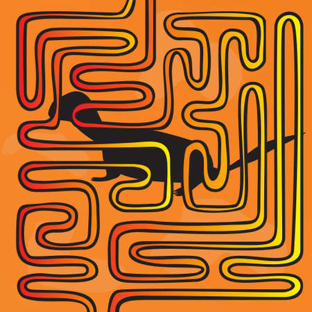 teaser: Maze with the animal on an orange background