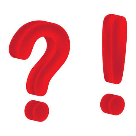 question mark: Frage und Ausrufezeichen auf wei�em Hintergrund
