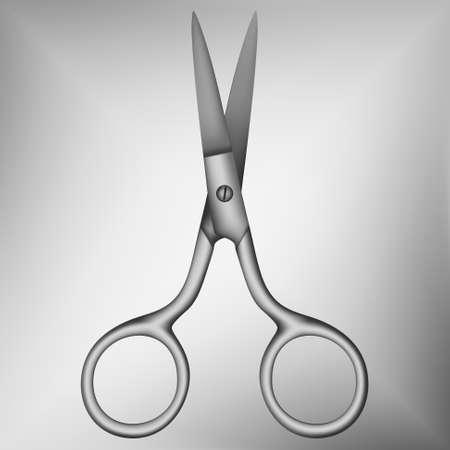 hygienics: Nail scissors on a gray gradient background