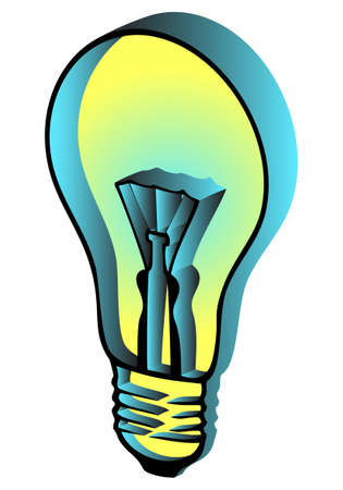 3d glowing lamp on a white background Illustration