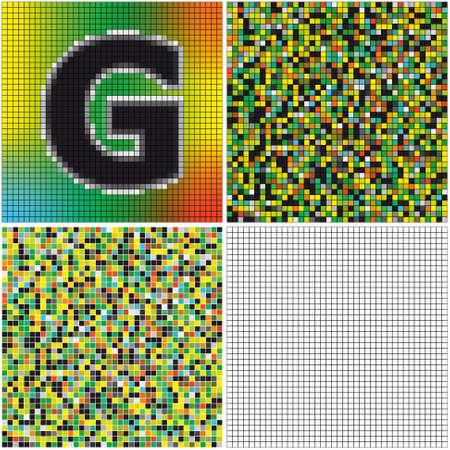 Letter G (mixed mosaic with empty cells)