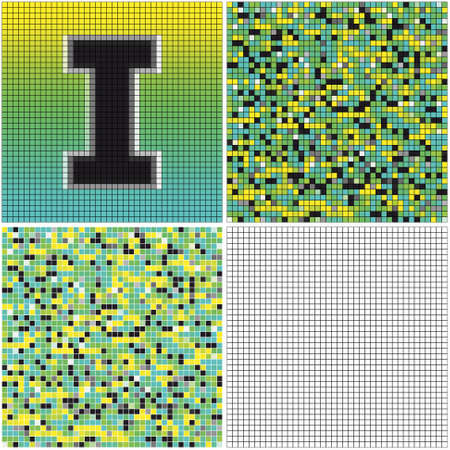 Letter I (mixed mosaic with empty cells)