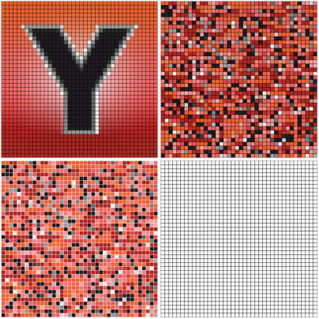 Letter Y (mixed mosaic with empty cells) Çizim
