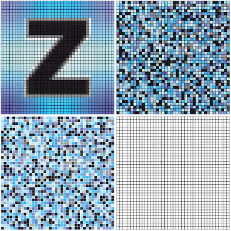 mixed: Letter Z (mixed mosaic with empty cells) Illustration