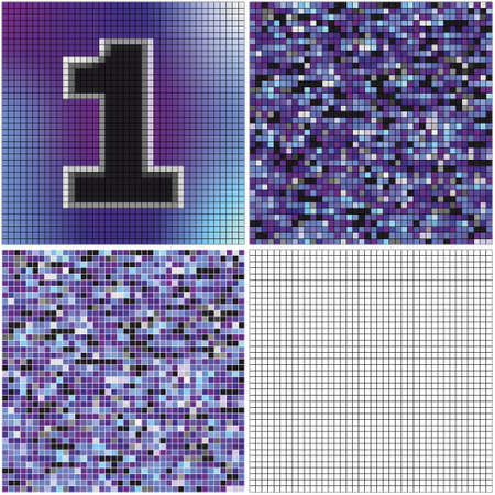 Number one (mixed mosaic with empty cells)