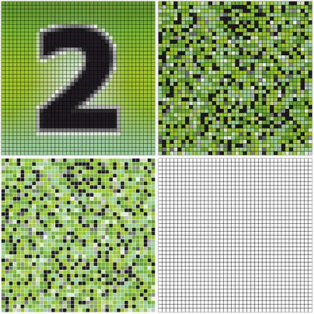 混合: ナンバー 2 (空のセルとモザイクを混合)  イラスト・ベクター素材