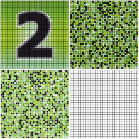 Number two (mixed mosaic with empty cells)