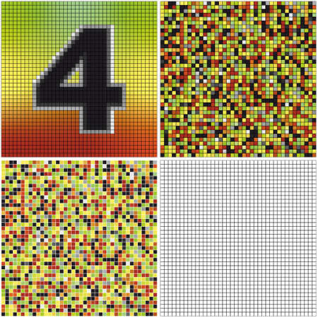 irregularity: Number four (mixed mosaic with empty cells)
