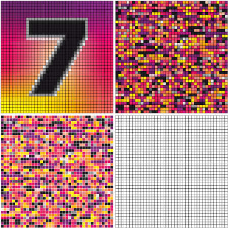 irregularity: Number seven (mixed mosaic with empty cells)