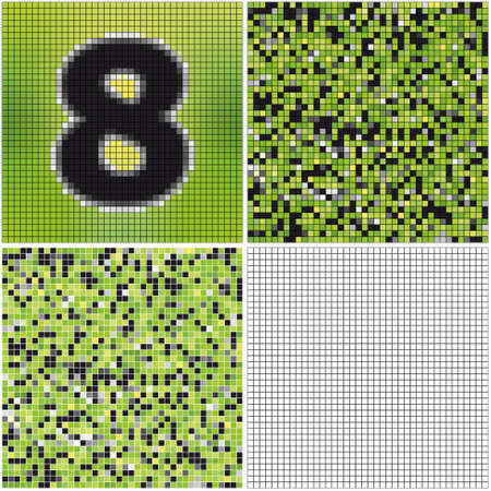 Number eight (mixed mosaic with empty cells)