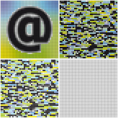 Email (mixed mosaic with empty cells)