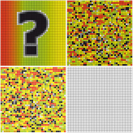 Question mark (mixed mosaic with empty cells)