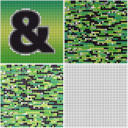 mixed: Ampersand (mixed mosaic with empty cells)