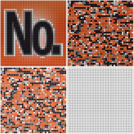 mixed: Number (mixed mosaic with empty cells)
