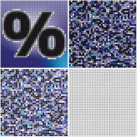 混合: % (空のセル混合モザイク)