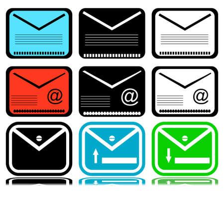 mailing: Set of mailing envelope on a white background Illustration