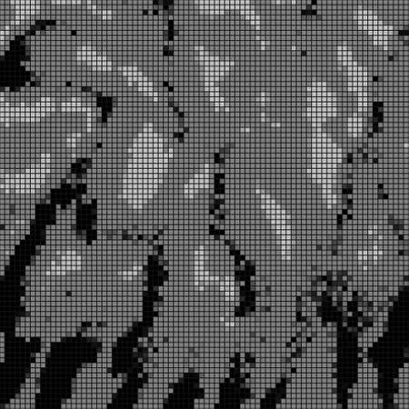 abstrakce: Vektorové ilustrace šedé mozaiky (abstrakce reliéf)