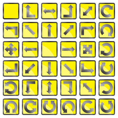 onward: Set de iconos con flechas sobre un fondo blanco