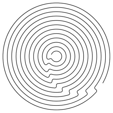 brainteaser: Black round maze on a white background