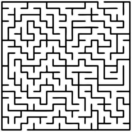 conundrum: Black square maze (20x20) on a white background