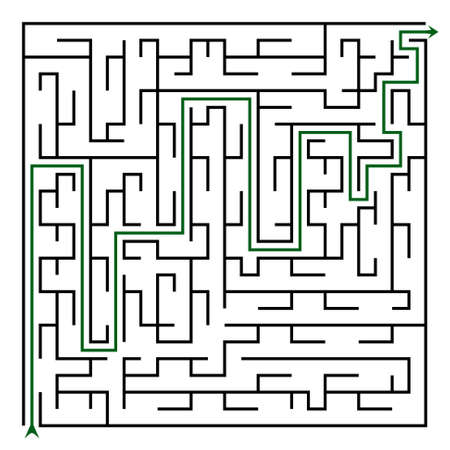 brainteaser: Black square maze(24x24) with help on a white background