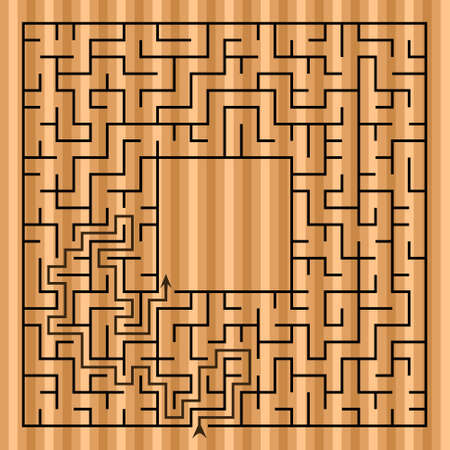 intricacy: Black square maze(24x24) with help on a white background