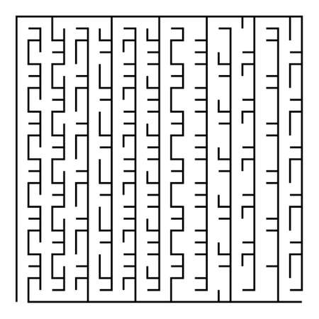 intricacy: Black square maze(24x24) on a white background