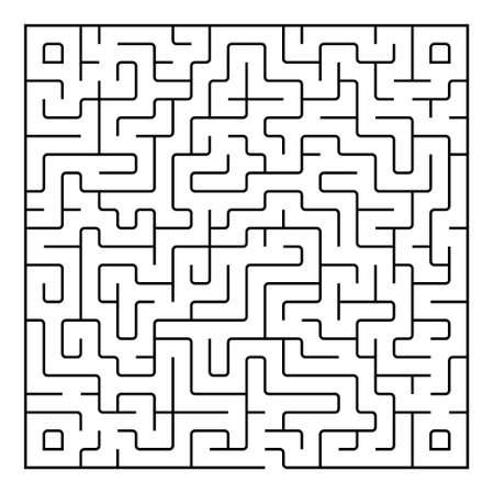conundrum: Black square maze(24x24) on a white background