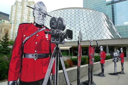 TORONTO - SEPTEMBER 13: Unique installation for souvenir photos in front of Roy Thomson Hall, a major venue of the 36th Toronto International Film Festival Sept 13, 2011 in Toronto, Canada