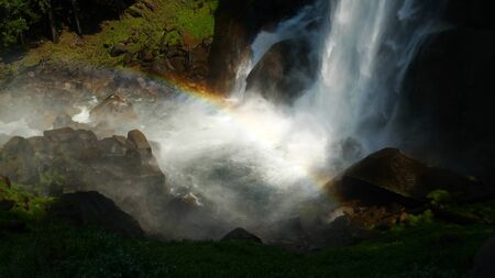 Vernal Falls and rainbow in Yosemite National Park, California, USA Stock Photo - 10777047