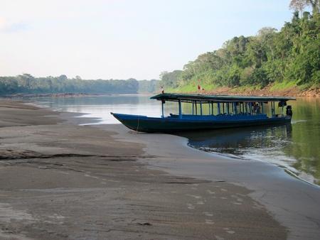 River boat by the Amazon, Peru photo
