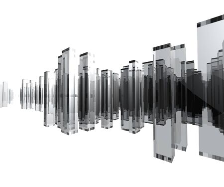 Computer generated 3D Glass City