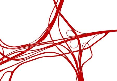 vasos sanguineos: Silueta de un intercambio de carretera