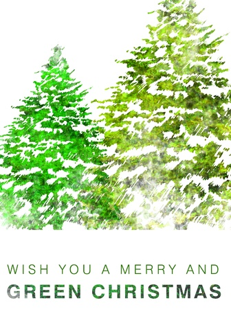 you are welcome: Eco friendly Christmas card Stock Photo