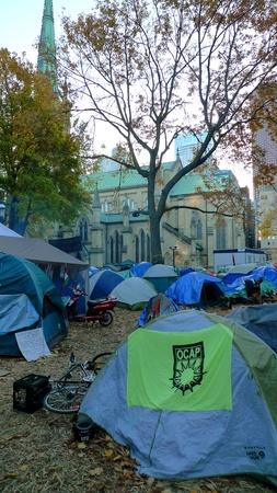 TORONTO - NOVEMBER 05: Tents of Occupy Toronto at St. James Park on Nov 05, 2011 in Toronto, Canada Stock Photo - 11117349