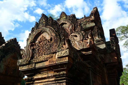 Banteay Srei temple at Angkor, near Siem Reap, Cambodia Stock Photo - 11971142