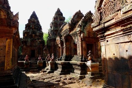 Banteay Srei temple at Angkor, near Siem Reap, Cambodia