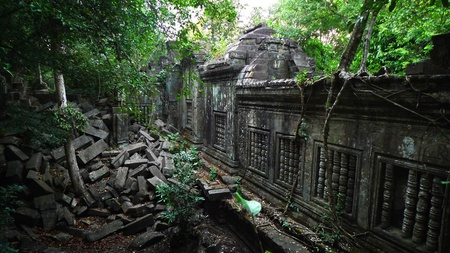 takeover: Beng Mealea Temple in Angkor, near Siem Reap, Cambodia Editorial