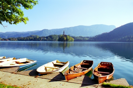 Lake Bled and Bled Island, Slovenia photo