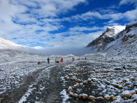 North Everest Base Camp in Tibet 版權商用圖片