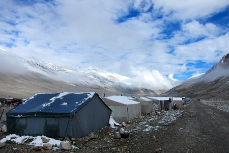 North Everest Base Camp in Tibet photo