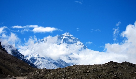 North Base Camp in Tibet with Mount Everest photo
