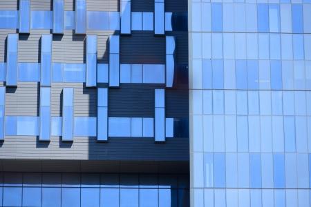 blue building exterior cladding panels 版權商用圖片