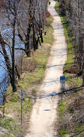 Riverside trail for bikes and hikers photo