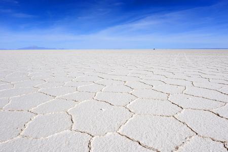 borax: Salar de Uyuni, Bolivia, the largest salt flat in the world