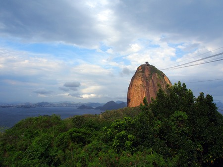 Cable car station at Morro da Urca, Sugarloaf Mountain, Rio de Janeiro, Brazil photo