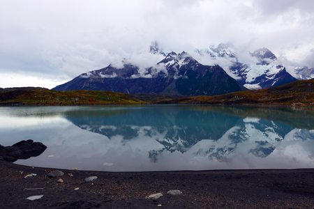 punta arenas: Torres del Paine National Park, near Puerto Natales, Patagonia, Chile Stock Photo