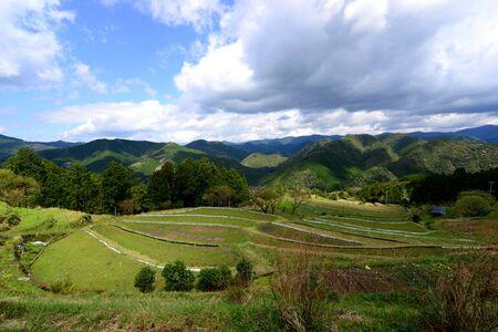 Farming mountain village along Kumano Kodo, the UNESCO World Heritage and ancient pilgrim route in Kii Mountains, Wakayama Prefecture, Kansai, Japan 版權商用圖片