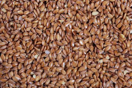 Close up of flax seeds. photo
