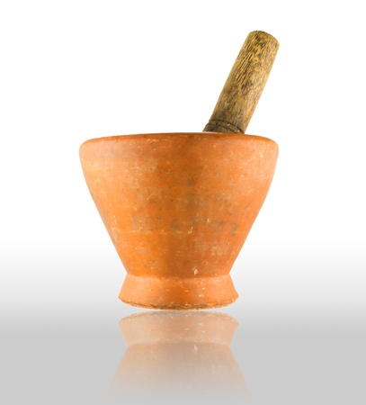 Handmade mortar for thai people Stock Photo